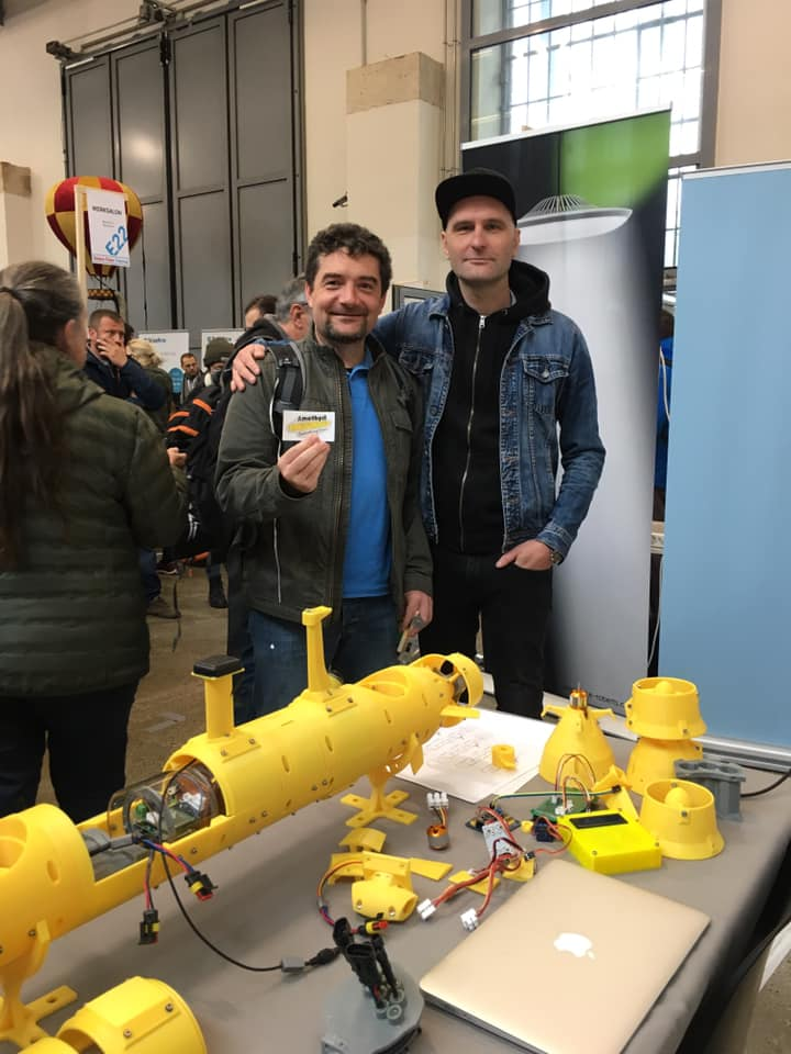 Amethyst AUV at Maker Faire Vienna 2019